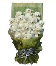 11 adet pelus ayicik buketi  Iğdır Karakuyu çiçek online çiçek siparişi