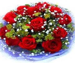 9 adet kirmizi güllerden buket  Iğdır Karaağaç internetten çiçek satışı