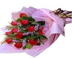 11 adet kirmizi güllerden görsel buket  Iğdır 14 kasım hediye çiçek yolla
