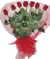 7 adet kipkirmizi gülden görsel buket  Iğdır karakoyunlu çiçek gönderme sitemiz güvenlidir