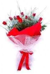 Iğdır Bağlar ucuz çiçek gönder  9 adet kirmizi gül buketi demeti