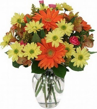 Iğdır çiçek gönder online çiçekçi , çiçek siparişi  vazo içerisinde karışık mevsim çiçekleri