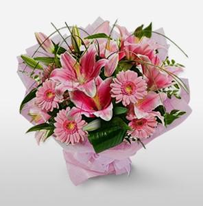1 dal kazablanka ve kır çiçek görsel buketi  Iğdır Enginalan uluslararası çiçek gönderme