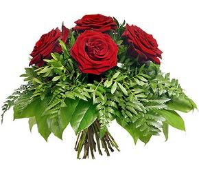 Iğdır karakoyunlu çiçek gönderme sitemiz güvenlidir  5 adet kırmızı gülden buket