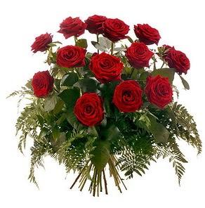 Iğdır Enginalan uluslararası çiçek gönderme  15 adet kırmızı gülden buket