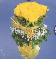 Iğdır çiçek yolla yurtiçi ve yurtdışı çiçek siparişi  Cam vazoda 9 Sari gül