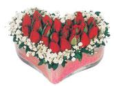 Iğdır Karaağaç internetten çiçek satışı  mika kalpte kirmizi güller 9