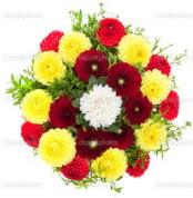 Iğdır Halfeli cicek , cicekci  13 adet mevsim çiçeğinden görsel buket