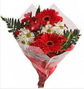 Mevsim çiçeklerinden görsel buket  Iğdır Akyumak 14 şubat sevgililer günü çiçek