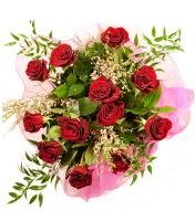 12 adet kırmızı gül buketi  Iğdır çiçekçiler güvenli kaliteli hızlı çiçek