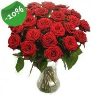 Vazo içerisinde 25 adet kırmızı gül  Iğdır Hoşhaber çiçek servisi , çiçekçi adresleri