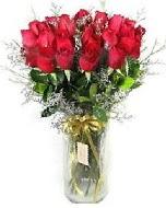 27 adet vazo içerisinde kırmızı gül  Iğdır Bağlar ucuz çiçek gönder