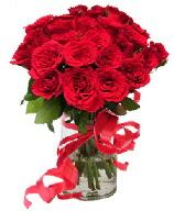 21 adet vazo içerisinde kırmızı gül  Iğdır 7 kasım çiçekçiler