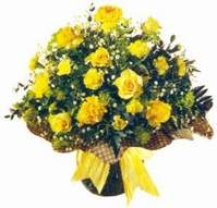 Iğdır Konaklı internetten çiçek siparişi  Sari gül karanfil ve kir çiçekleri