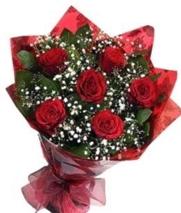 6 adet kırmızı gülden buket  Iğdır Kışla çiçekçi telefonları