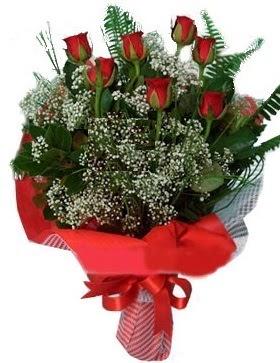 7 kırmızı gül buketi  Iğdır Aralık İnternetten çiçek siparişi