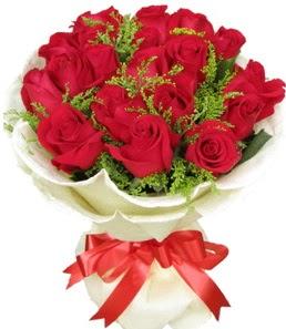 19 adet kırmızı gülden buket tanzimi  Iğdır Aralık İnternetten çiçek siparişi