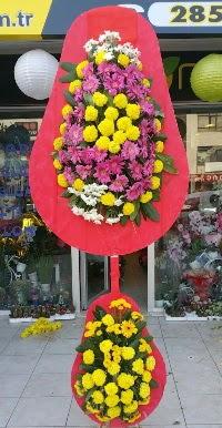 Çift katlı düğün nikah açılış çiçek modeli  Iğdır Karakuyu çiçek online çiçek siparişi