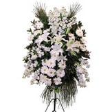 Iğdır Hoşhaber çiçek servisi , çiçekçi adresleri  Ferforje beyaz renkli kazablanka