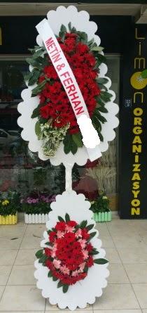 Çift katlı düğün nikah çiçeği modeli  Iğdır Obaköy cicekciler , cicek siparisi