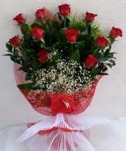 11 adet kırmızı gülden görsel çiçek  Iğdır 7 kasım çiçekçiler
