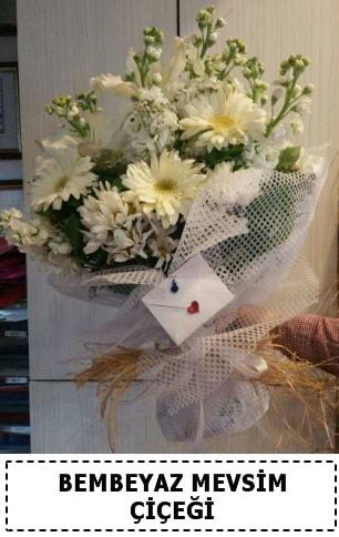 Bembeyaz görsel mevsim çiçek buketi  Iğdır 12 eylül çiçekçi mağazası