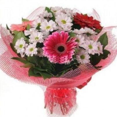 Gerbera ve kır çiçekleri buketi  Iğdır Melekli anneler günü çiçek yolla