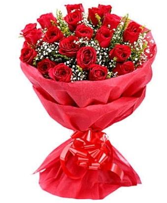 21 adet kırmızı gülden modern buket  Iğdır Söğütlü çiçek siparişi sitesi
