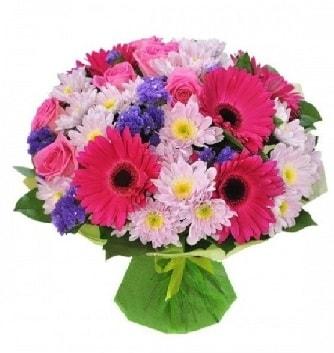 Karışık mevsim buketi mevsimsel buket  Iğdır 7 kasım çiçekçiler