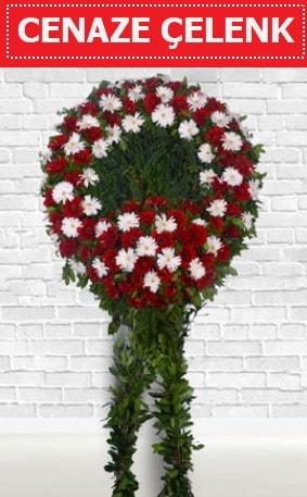 Kırmızı Beyaz Çelenk Cenaze çiçeği  Iğdır Bağlar ucuz çiçek gönder