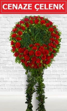 Kırmızı Çelenk Cenaze çiçeği  Iğdır Bağlar ucuz çiçek gönder