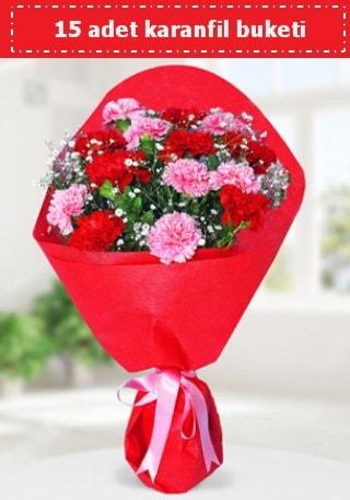 15 adet karanfilden hazırlanmış buket  Iğdır Yaycı çiçek mağazası , çiçekçi adresleri
