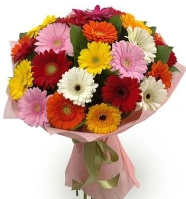 Karışık büyük boy gerbera çiçek buketi  Iğdır 7 kasım çiçekçiler